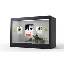 珠宝手机透明屏展示柜