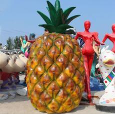 湛江种植基地玻璃钢仿真菠萝雕塑定制厂家
