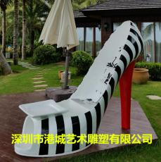 深圳玻璃钢高跟鞋雕塑商场步行街摆件定制厂