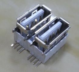 USB连接器 AF双层侧插短体USB母座