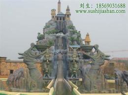 塑石假山,主题公园塑石假山