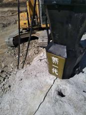 露天矿山开采液压岩石胀裂机广安使用现场