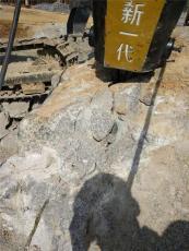 隧道开挖液压无声裂石机玉树使用现场