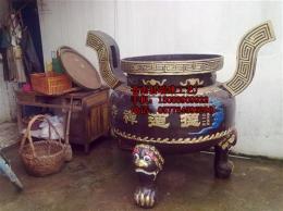 圆形香炉,圆形平口香炉,香炉,铸铁香炉厂