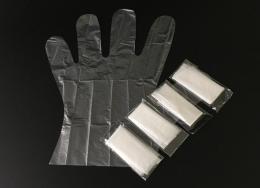 透明塑料薄膜卫生手套批发多少钱