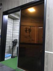 佛山萨洛德门厂 钢化玻璃门 双层夹丝玻璃门