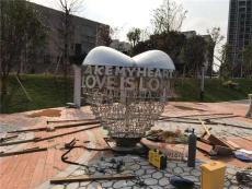 广场爱心不锈钢雕塑摆件 心形不锈钢雕塑