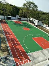 篮球场建设 标准塑胶篮球场材料