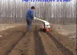 种大葱开沟培土机 大棚打沟起垄机