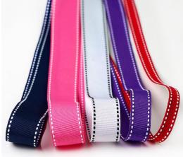 供应 双边跳线螺纹织带 涤纶织带 远宏织带
