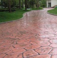 供青海水泥路面壓花和西寧混凝土壓花路面詳