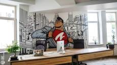 江门企业文化墙彩绘 办公室墙绘 追梦墙绘