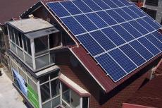 30KW光伏发电站220V太阳能并网发电系统村用