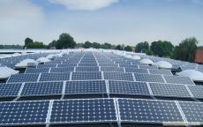 工廠屋頂100KW太陽能光伏發電站