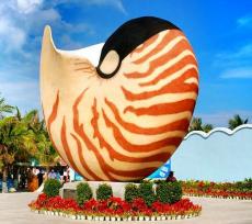 艺术装点生活大型仿真玻璃钢海螺雕塑报价