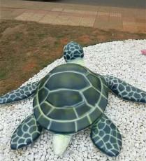 楼盘绿化装饰海洋生物玻璃钢乌龟雕塑报价