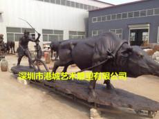 农耕文化主题玻璃钢播种农耕人物雕塑报价