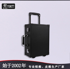 东莞美易达鳄鱼纹高荔枝纹PVC皮化妆箱