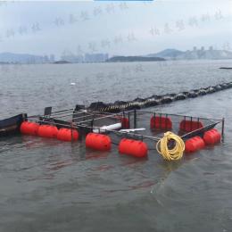 南充水库拦污设备浮式围栏浮桶施工