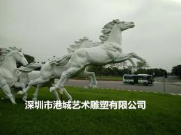 深圳奔马雕塑玻璃钢仿真马雕塑厂家