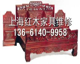 上海浦东新区红木家具修补细节