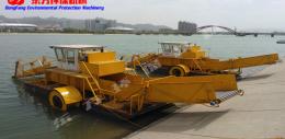 青州割草船  破碎收集打捞一体割草船