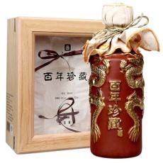 53度北京飯店百年珍藏單支禮盒1900龍瓶禮盒