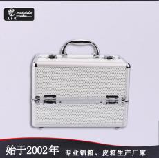 东莞美易达高品质韩国双开铝合金手提化妆箱