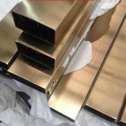不銹鋼彩色6米管 拉絲304不銹鋼扁管