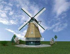 陜西西安荷蘭風車防腐木風車廠家