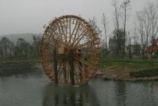 陜西西安景觀水車防腐木水車廠家