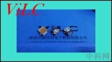90度沉板貼片USB2.0母座 刺破式 貼麥拉卷口