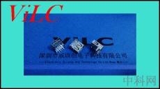 AF90度-USB 加高直邊直腳-透明膠芯-銅端DIP