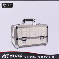 东莞美易达铝合金纯色多层内盘手提化妆箱
