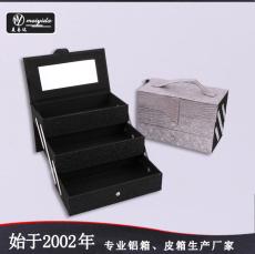 东莞美易达厂家直销手提皮质化妆箱