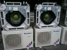 东莞石碣出售二手空调八成新格力美的5P柜机