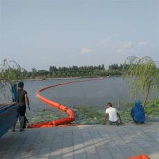 取水口攔截浮排掛網塑料浮筒安裝圖