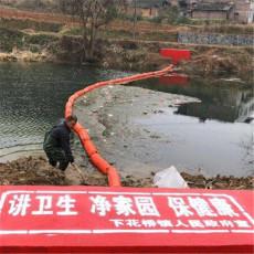 垃圾阻攔浮排活動式導漂排裝置