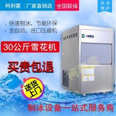 30公斤制冰机雪花机小型颗粒制冰 奶茶店
