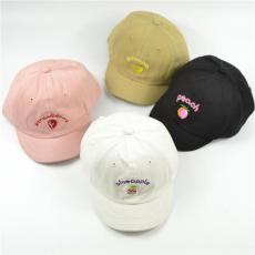 棒球帽男平檐嘻哈帽平沿帽女鸭舌帽厂家定做