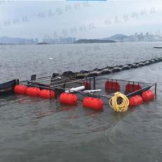 湖面漂浮物拦漂浮桶塑料拦污浮筒批发