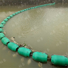 供应大量 尼龙绳串联塑料浮筒 挡垃圾拦污浮