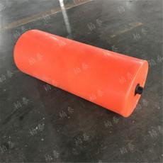 300x800mm圆柱形浮筒 中间可焊PE管拦污浮筒