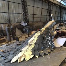 售楼部景观孔雀不锈钢雕塑定做厂家