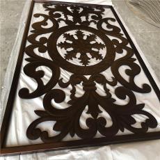 红古铜铝板雕刻屏风隔断 表面做旧纳米喷图