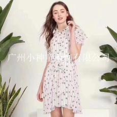 三彩19年夏裝品牌折扣女裝批發韓序專柜正品