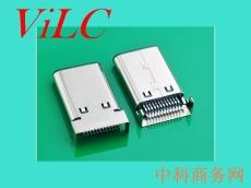 高频TYPE C公头-超薄USB3.1插头-双排贴24P