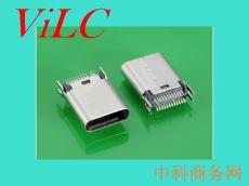 二脚卡板-180度SMT 夹板TYPE C母座 编带