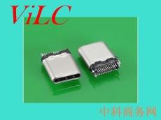 供应24P夹板TYPE C公头-拉伸外壳USB3.1插头