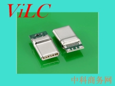 无缝USB 3.1TYPE C带板公头-拉伸一体式